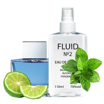 Парфуми FLUID №2 (аромат схожий на Antonio Banderas Blue Seduction For Men) Чоловічі 110 ml