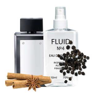 Парфуми FLUID №4 (аромат схожий на Antonio Banderas The Secret) Чоловічі 110 ml