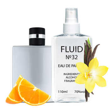 Парфуми FLUID №32 (аромат схожий на Chanel Allure Homme Sport) Чоловічі 110 ml
