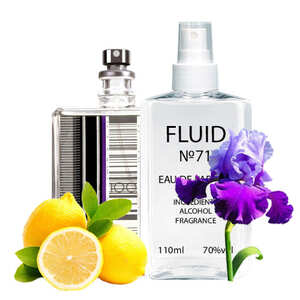 Парфуми FLUID №71 (аромат схожий на Escentric Molecules Escentric 01) Унісекс 110 ml
