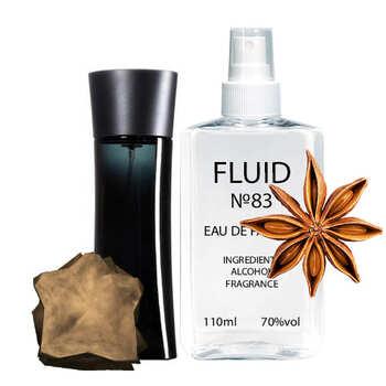 Парфуми FLUID №83 (аромат схожий на Giorgio Armani Code For Man) Чоловічі 110 ml