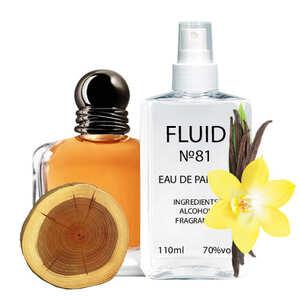 Парфуми FLUID №81 (аромат схожий на Giorgio Armani Emporio Armani Stronger With You) Чоловічі 110 ml
