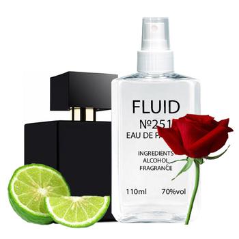 Парфуми FLUID №251 (аромат схожий на Lalique Encre Noire Pour Femme) Жіночі 110 ml
