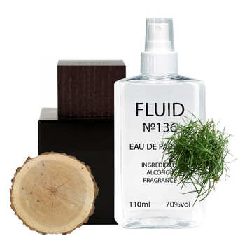 Парфуми FLUID №136 (аромат схожий на Lalique Encre Noire) Чоловічі 110 ml