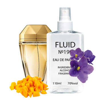 Парфуми FLUID №199 (аромат схожий на Paco Rabanne Lady Million Eau My Gold) Жіночі 110 ml