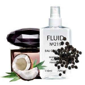 Парфуми FLUID №219 (аромат схожий на Versace Crystal Noir) Жіночі 110 ml