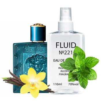 Парфуми FLUID №221 (аромат схожий на Versace Eros Pour Homme) Чоловічі 110 ml