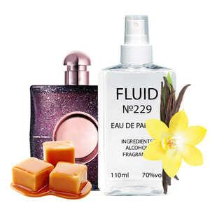 Парфуми FLUID №229 (аромат схожий на Yves Saint Laurent Black Opium Nuit Blanche) Жіночі 110 ml