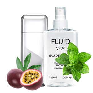 Духи FLUID №24 (аромат похож на Carolina Herrera 212 VIP Men) Мужские 110 ml