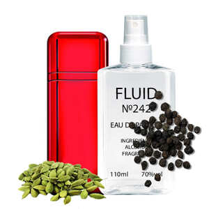 Духи FLUID №242 (аромат похож на Carolina Herrera VIP Black Red) Мужские 110 ml
