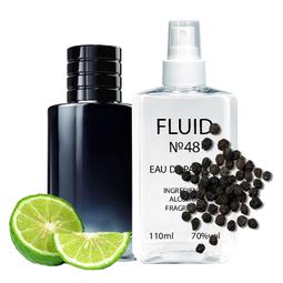 Духи FLUID №48 (аромат похож наChristian Dior Sauvage 2015) Мужские 110 ml
