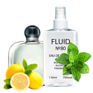 Духи FLUID №80 (аромат похож на Giorgio Armani Acqua Di Gioia) Женские 110 ml