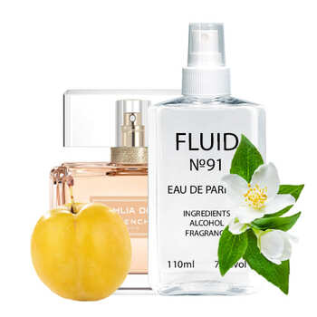 Духи FLUID №91 (аромат похож на Givenchy Dahlia Divin) Женские 110 ml