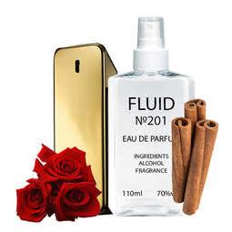 Духи FLUID №201 (аромат похож на Paco Rabanne One Million) Мужские 110 ml